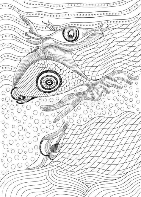 Surreale Handzeichnungsgesichter Abstrakte Grafische