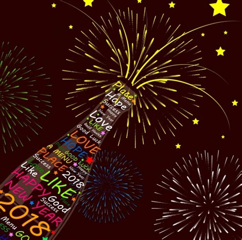 new year poster 2018 2018 new year poster wine bottle fireworks decoration free