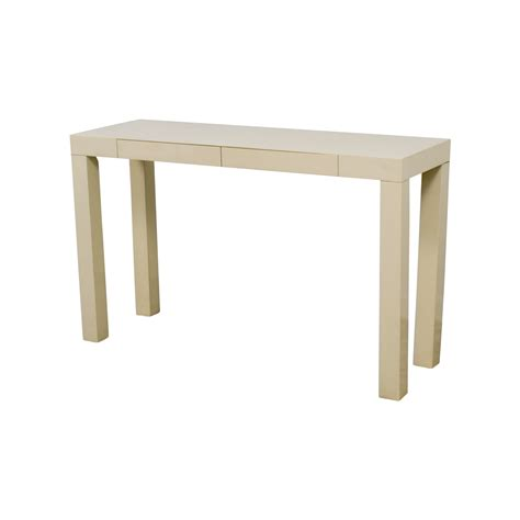 elm white table 87 elm elm white parsons console table