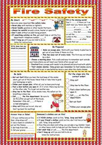 fire safety key included worksheet free esl printable