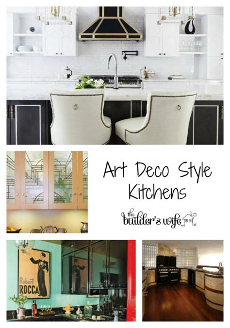 art deco kitchen my style pinterest art deco style kitchen inspired space the builder s wife