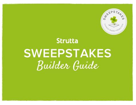 Ta Sweepstakes - strutta sweepstakes builder guide