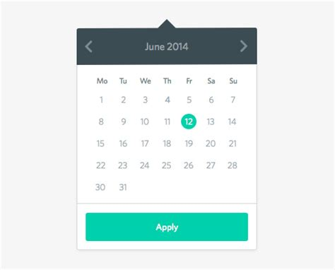 datepicker mobile 28 datepickers for website ui and mobile apps bittbox