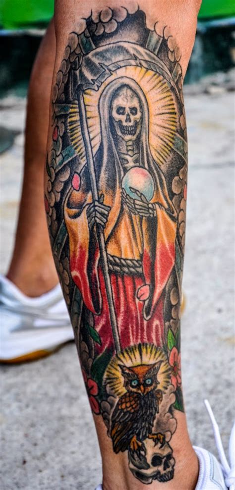 santa muerte tattoo redirecting