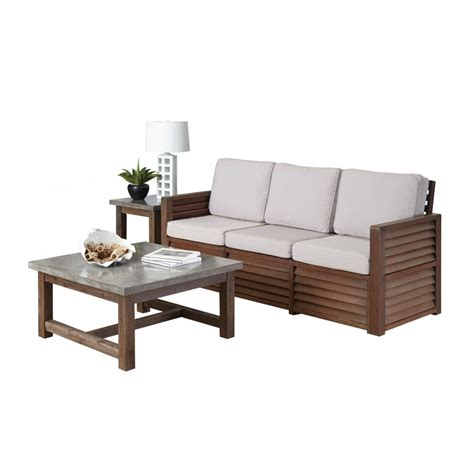 sofa accent table barnside three seat sofa end table and coffee table