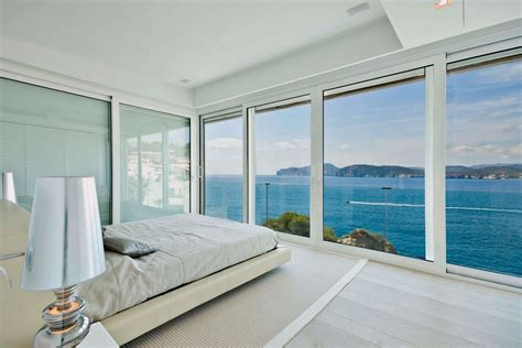 bedroom view mallorca holiday home colored by sea view