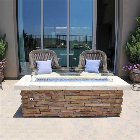 Fireplace Stores Orange County by Stacked Rectangle Pit W Wind Guard Outdoor