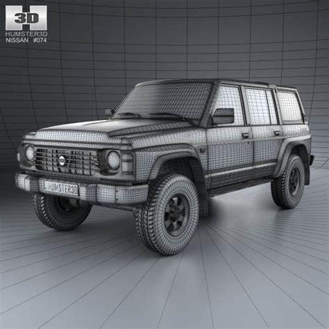 nissan 1987 models nissan patrol y60 5 door 1987 3d model hum3d