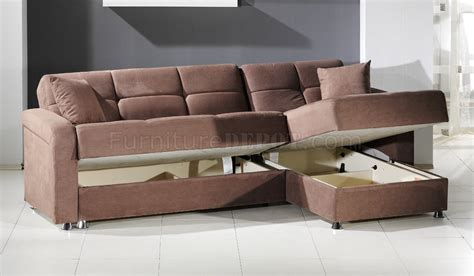 vision sec rainbow sectional sofa bed storage in truffle