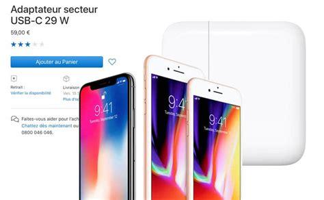 iphone x 8 et 8 plus la recharge rapide est bien l 224 mais il faut payer 88 euros en plus pour