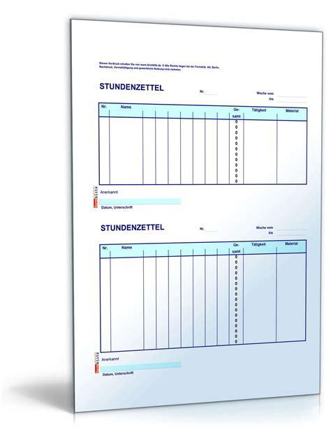 Kostenlose Vorlage Gehaltsabrechnung Stundenzettel Kolonne 2x12 Muster Zum