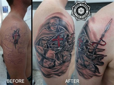 crusader tattoo cover ups chris cosmos studio limassol cyprus