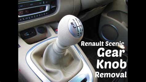 lfitting verwijderen htl how to remove and replace a renault 6 speed gear knob