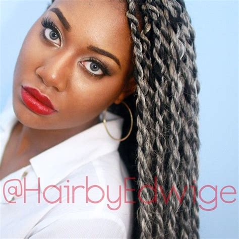 gray marley braid hair quot silver senegalese twists hair i love pinterest