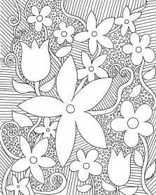 book coloring sheet free coloring pages for adults trees flowers