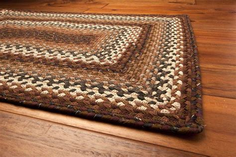 home spice decor homespice decor cotton braided rocky road brown area rug