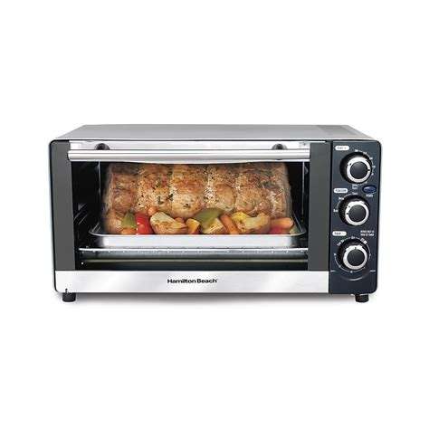 Toaster Oven Functions Hamilton Beach Toaster Oven With Broiler Function Shop