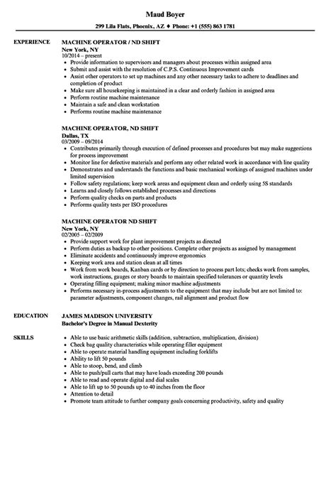 smt operator resume machine operator nd shift resume sles velvet