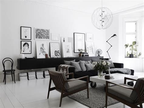 Living Room Club Stockholm Scandinavian Style White And Black Nordic Bliss