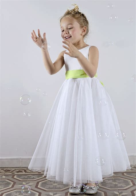 Robe Tulle Mariage - robe de c 233 r 233 monie fille en tulle cort 232 ge et mariage
