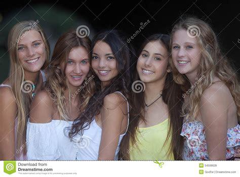 group teen girls laughing beautiful smiles smiling group of girls stock photo