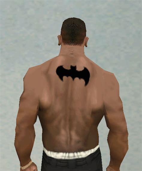 batman tattoo lower back gta san andreas batman back tattoo black mod gtainside com