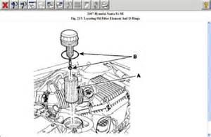 2007 hyundai santa fe filter location engine