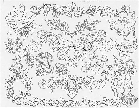 tattoo flash with outlines outlines tattoo