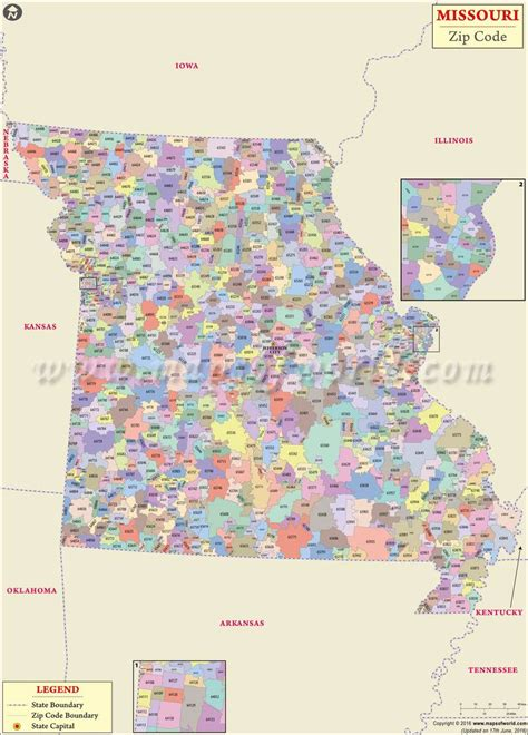 map missouri area codes missouri zip code map missouri postal code
