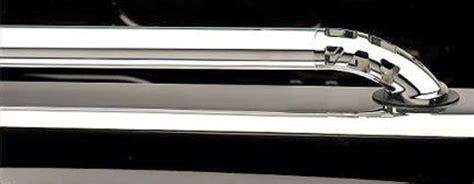 chrome bed rails putco crossrails oval truck bed side rails chrome