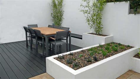 minimalist white garden design rogerstone gardens cardiff garden design wales garden design