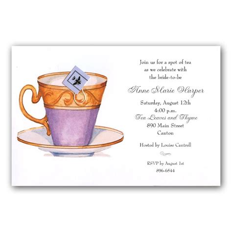 High Tea Invitation Template by High Tea Invitation Templates