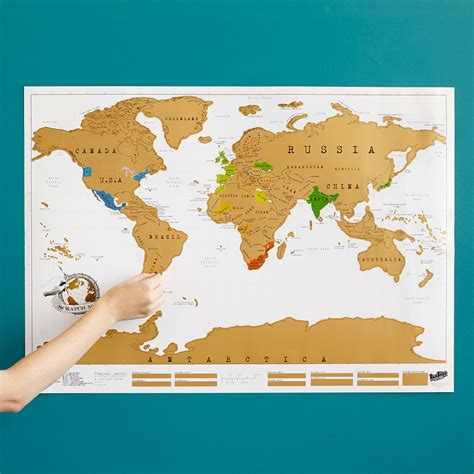map of the world places i ve been scratch map chart for travel uncommongoods