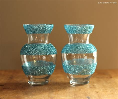 Glitter Vase dollar decor girly glitter vases