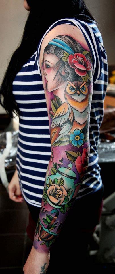 themes for girl sleeve tattoos nice girl s sleeve tattoo best tattoo design ideas