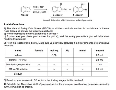 How To Make A Test L by You Will Determine Which Isomer Of Indanol You Mad