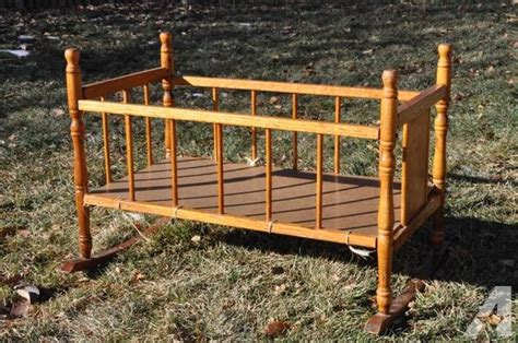 Vintage Estate Crib by Vintage Doll Crib Cradle Rocker Bed Mid Century For Sale In Westminster Vermont Classified