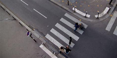 at the crossing zebra crossing