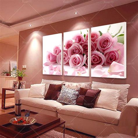 room of roses aliexpress buy 3 panel modern printed flower painting canvas cuadros flowers picture