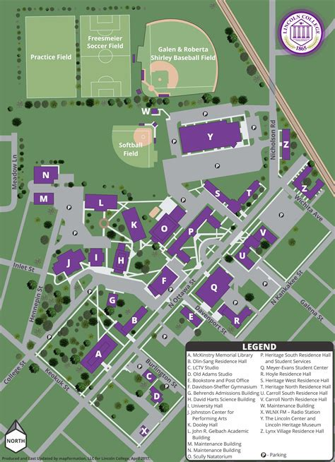 lincoln college mylynx lincoln cus maps directions lincoln college