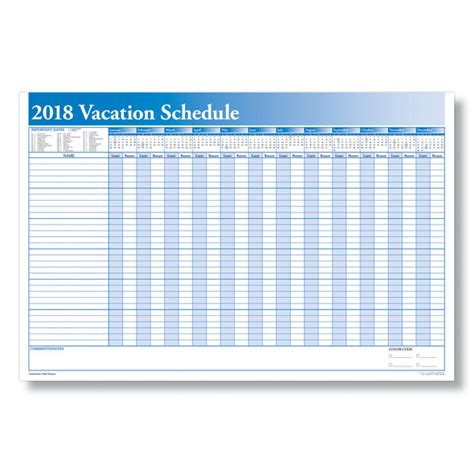 vacation schedule calendar template schedule employee time with a yearly vacation scheduler