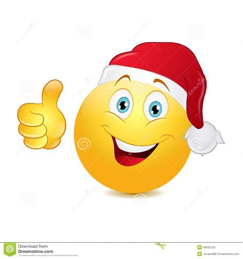 christmas emoticons emoticon with thumb up stock vector image 46035723
