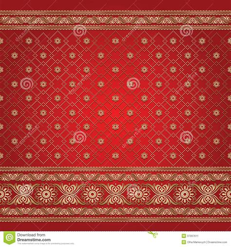 gold indian pattern indian background pattern stock vector illustration of