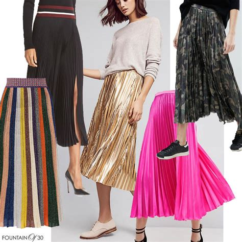 trend to wear now later pleated skirts fountainof30