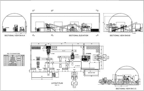 factory layout design autocad mechanical materials handling drawings