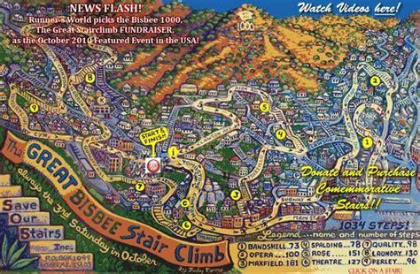 bisbee az map bisbee az stairclimb 2010 map bisbee az mappery