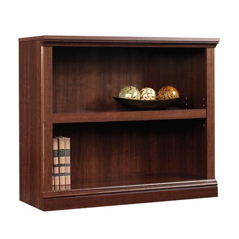 sauder 2 shelf bookcase select cherry finish sauder ebay