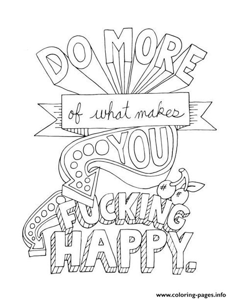 do more coloring books quotes word do more of what makes you happy coloring pages