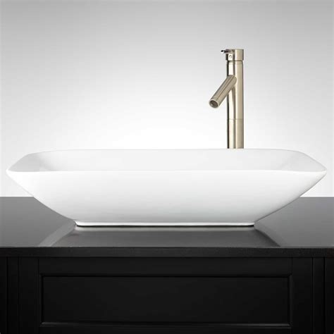 what are bathroom sinks made of valexo rectangular porcelain vessel sink bathroom