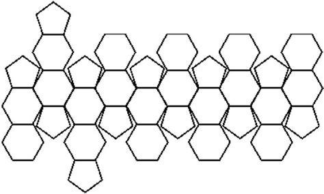 sphere net template truncated icosahedron net math measurement geometry